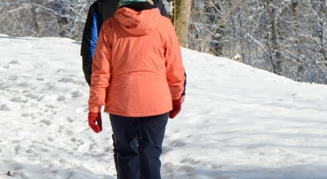 Balade à pied hivernale
